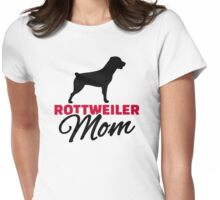 Rottweiler Mom Womens Fitted T-Shirt