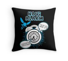 Navi Alarm Throw Pillow