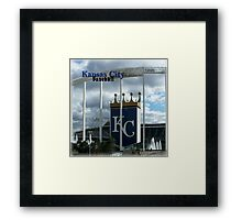 Kansas City Baseball Framed Print
