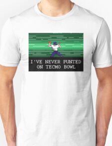 Tecmo Bowl I've Never Punted Unisex T-Shirt