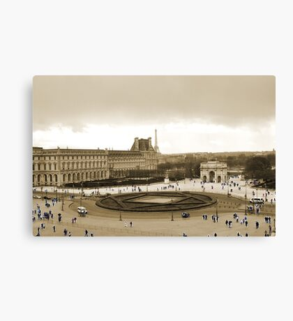 Architecture and Populace Canvas Print