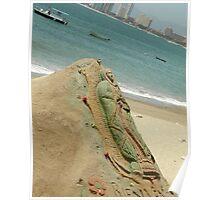Virgin Mary Sand Sculpture Poster