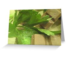 Celery and Chocolate Greeting Card