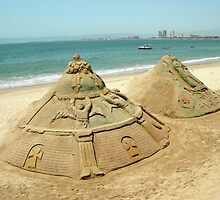 Sand Sculptures by Jennifer  Causley