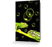 Karma Chameleons Greeting Card