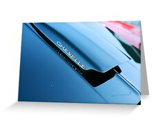 Chevelle Cowl Induction Hood Greeting Card