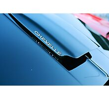 Chevelle Cowl Induction Hood Photographic Print