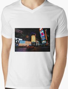 Times Square, NYC Mens V-Neck T-Shirt