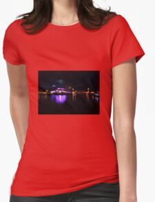 Salford Quays at Night Womens Fitted T-Shirt
