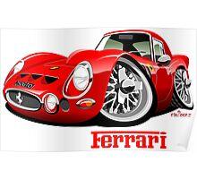 Ferrari 250 GTO caricature Poster