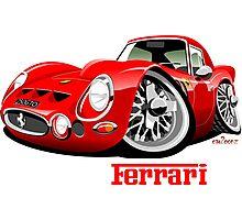 Ferrari 250 GTO caricature Photographic Print