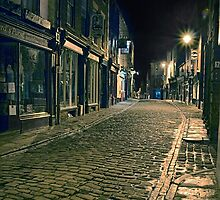 Whitby Street at Night by Ann Garrett