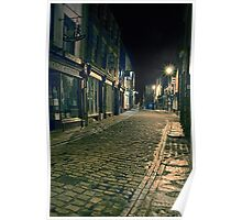 Whitby Street at Night Poster