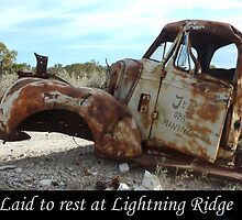 A collection of old wrecks at Lightning Ridge in outback NSW by DashTravels