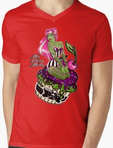 Cupcake Zombie Mens V-Neck T-Shirt