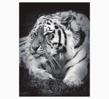 Tiger sticking its tongue out  Kids Tee