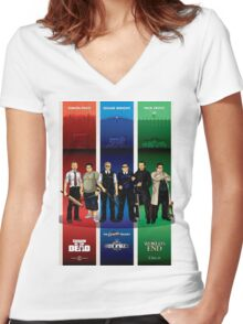 The Cornetto Trilogy. Women's Fitted V-Neck T-Shirt