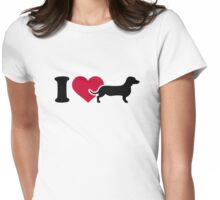 I love Dachshund Womens Fitted T-Shirt