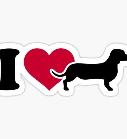 I love Dachshund Sticker