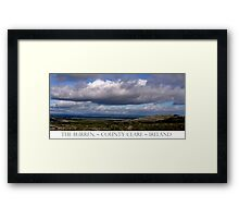 The Burren Sky Framed Print