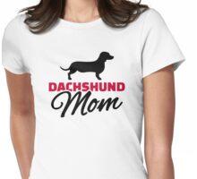 Dachshund Mom Womens Fitted T-Shirt