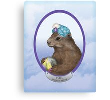 Psychic Groundhog Predicts the Future Canvas Print