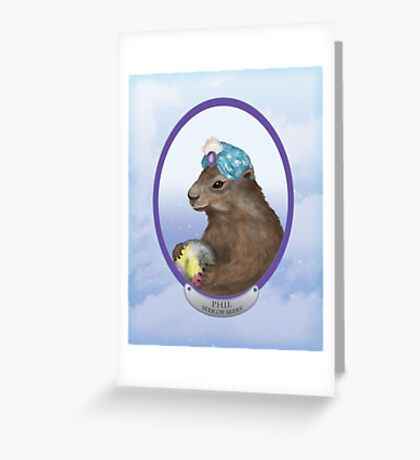 Psychic Groundhog Predicts the Future Greeting Card