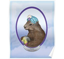 Psychic Groundhog Predicts the Future Poster