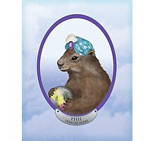 Psychic Groundhog Predicts the Future Photographic Print