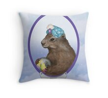 Psychic Groundhog Predicts the Future Throw Pillow