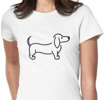 Dachshund Womens Fitted T-Shirt