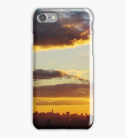 Winter Sunset in New York City  iPhone Case/Skin