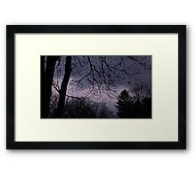 Mysterious Night Sky. Framed Print