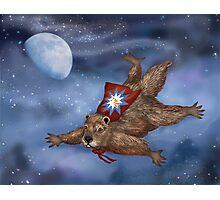 Phil Groundhog Superhero  Photographic Print