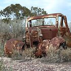 Old wreck atop Lunatic Hill (Lightning Ridge NSW) by DashTravels
