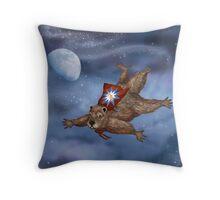 Phil Groundhog Superhero  Throw Pillow