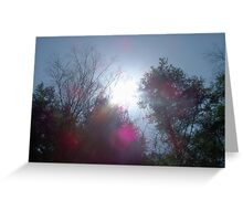 The Colors of Sunlight Greeting Card