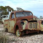 Old ute atop Lunatic Hill (Lightning Ridge NSW) by DashTravels