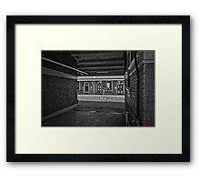 Train Station in Goulburn/NSW/Australia (10) Framed Print