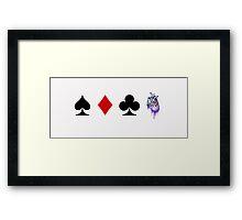 Card Game Framed Print