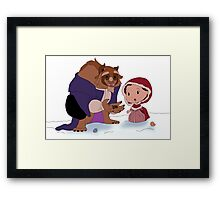 Beast Christmas Framed Print
