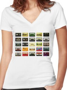 #Music Women's Fitted V-Neck T-Shirt