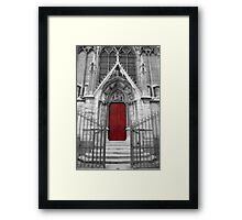 Notre Dame's Red Door Framed Print