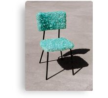 Glass Chair sculpture Canvas Print