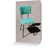 Glass Chair sculpture Greeting Card