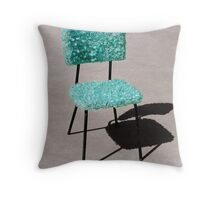 Glass Chair sculpture Throw Pillow