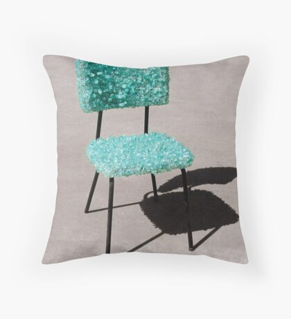Glass Chair sculpture Throw Pillow