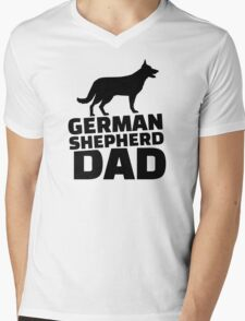 German shepherd Dad Mens V-Neck T-Shirt