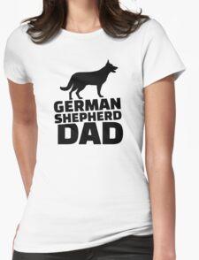 German shepherd Dad Womens Fitted T-Shirt