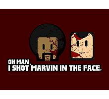 Toon Quote : Pulp Fiction - I Shot Marvin in the Face Photographic Print